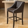 Filton Bonded Leather Quilted Barstool