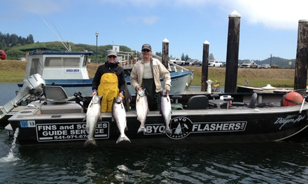 $199 Eight-Hour Guided Fishing Trip for Two  from Fins and Scales Guide Service ($400 Value)