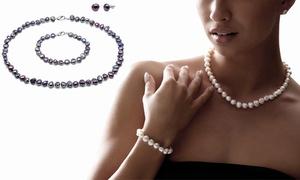 Parure de perles d'eau douce