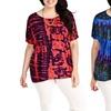 Blue Plate Women's Summer Boho Tie-Dye Top in Plus Size