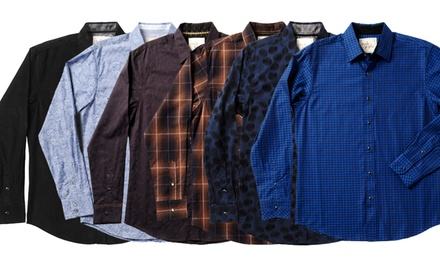 Age of Wisdom Men's Casual Button-Downs. Multiple Styles Available.
