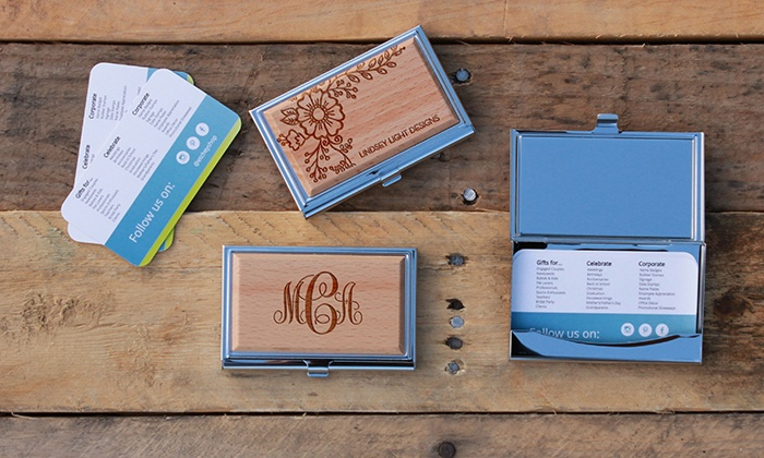 custom business card holder from etchey - Custom Business Card Holder