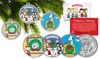 Peanuts Christmas Colorized Coin Set (3-Piece): Peanuts Christmas Colorized JFK Half-Dollar Coin Set (3-Piece)