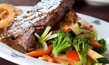 Steak Meal with Wine for Two or Four at The Corner Cupboard