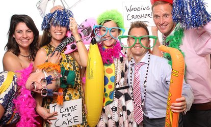 One-Hour Photobooth Hire With Props and An Online Gallery from The Amazing Pop-Up Photobooth
