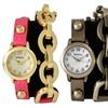 Geneva Women's Studded Chain Wrap Watches