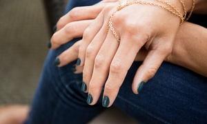 Angela's Hair and Nail Gallery: One or Two Mani-Pedis or Shellac Manicure at Angela's Hair and Nail Gallery (Up to 53% Off)