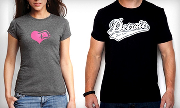 Detroit Motor Apparel - Downtown Royal Oak: One or Two Detroit-Inspired T-Shirts from Detroit Motor Apparel (Up to 52% Off)