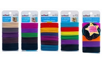 GROUPON: 120 or 160 Pack of Scunci Elastic Hair Ties  scünci No Damage Hair Bands