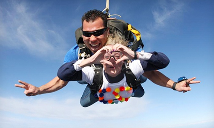 Skydive Holister - Skydive Hollister: Tandem Skydive from 10,000 Feet for One or Two from Skydive Hollister (Up to 44% Off)