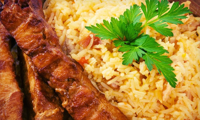 Grill House - South Paterson: Mediterranean Dinner for Two or Four with Optional Hookah at Grill House (Up to 64% Off)