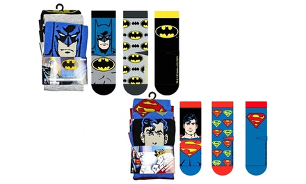 Three or Six Pairs of DC Comics Men's Cotton Socks
