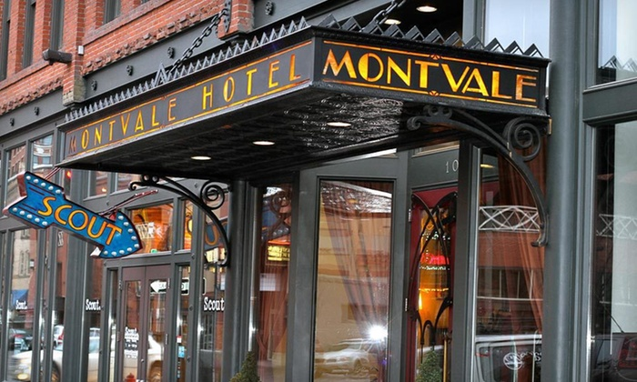 Montvale Hotel - Riverside: One- or Two-Night Stay with Dining Credit and a Bottle of Wine at Montvale Hotel in Spokane, WA