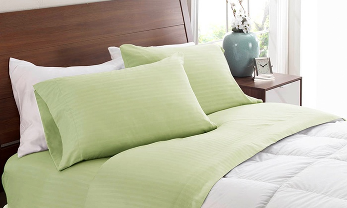 Royal London Collection Dobby Stripe Microfiber Sheets: Royal London Collection Dobby Stripe Microfiber Sheets. Multiple Colours Available.