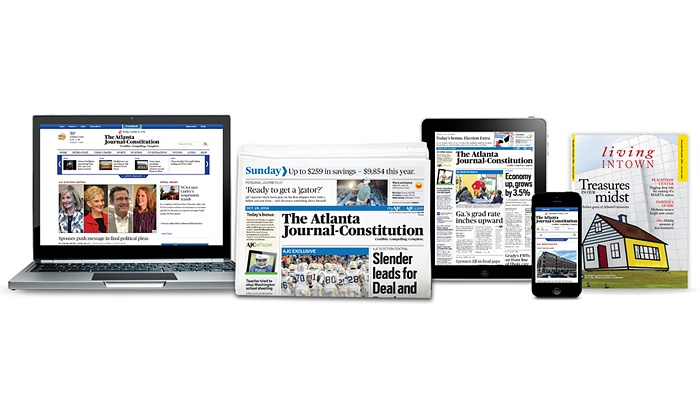"_The Atlanta Journal-Constitution_ - Atlanta: Sunday-Only Print Subscription with 12-Month Digital Subscription or Only a Digital Subscription to ""Atlanta Journal-Constitution"" (87% Off)"