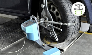 Barão Pneus: Barão Pneus – M. Procópio: alinhamento, balanceamento e check-up suspensão para carro de passeio e SUVs