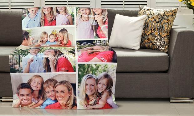 From $39 for a Personalised Photo Blanket, Redeemable Online (Don't Pay up to $199)