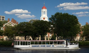 Charles Riverboat Company: Charles River Sightseeing or Sunset Tour for One or Two from Charles Riverboat Company (Up to 59% Off)