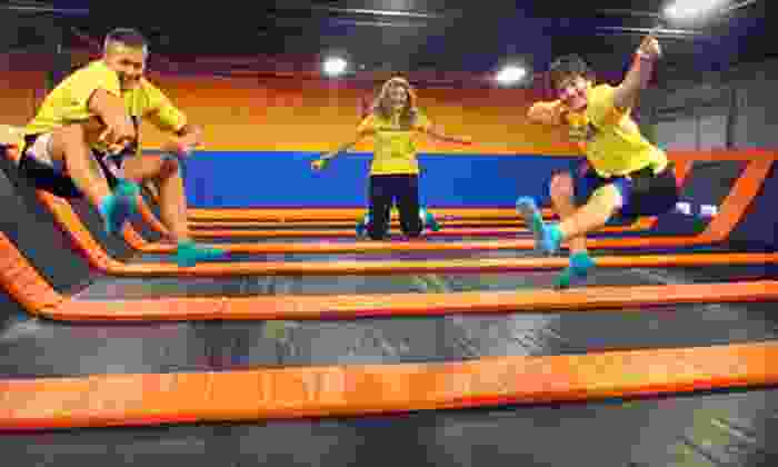 AirMaxx Trampoline Park - Eden Prairie: One Hour of Trampoline Jump Time for Two or Four or Five Maxxercise Classes at AirMaxx Trampoline Park  (Half Off)