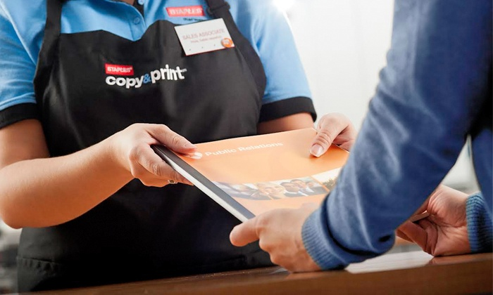 Staples - Asheville: Presentation, Manual, and Booklet Printing Services at Staples (Up to 52% Off). Three Options Available.