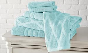 Diamond Jacquard Cotton Towel Set (6-Piece) at Diamond Jacquard Cotton Towel Set (6-Piece), plus 9.0% Cash Back from Ebates.