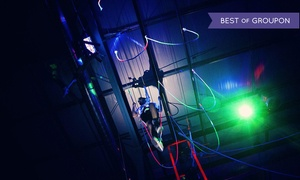 Bodies in Motion: Cosmic Ropes Course or Ninja Warrior Experience for Two or Four at Bodies in Motion (Up to 52% Off)