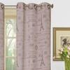 Textured Sheer Printed Window Panel Pairs
