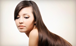 Brazilian Blowout Or Haircut-and-style Package At Beauty Deluxe Salon (51% Off)