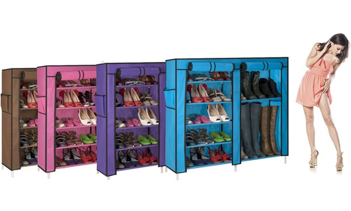 armoire range chaussures luxe groupon shopping. Black Bedroom Furniture Sets. Home Design Ideas