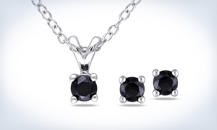 Black Diamond Earring And Pendant Set 59 99 For A 1 2 Carat