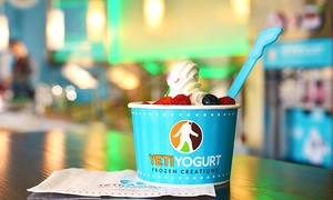 Yeti Yogurt : $12 for Four Groupons, Each Good for $5 Worth of Frozen Yogurt at Yeti Yogurt ($20 Value)