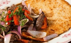 La Rosa Nautica Restaurant: $20 for $35 Worth of Peruvian Cuisine for Two or More at La Rosa Nautica Restaurant