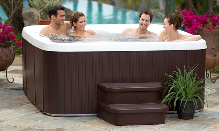 6 or 7 Person Spa with Hydrotherapy Jets: 6 Person Spa with 19 Hydrotherapy Jets or 7 Person Spa with 40 Hydrotherapy Jets from $2,999.99–$3,499.99