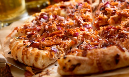 One ($14) or Two ($25) Large Pizzas for Takeaway from Gourmet Pizza and Soup Co. (Up to $48 Value)