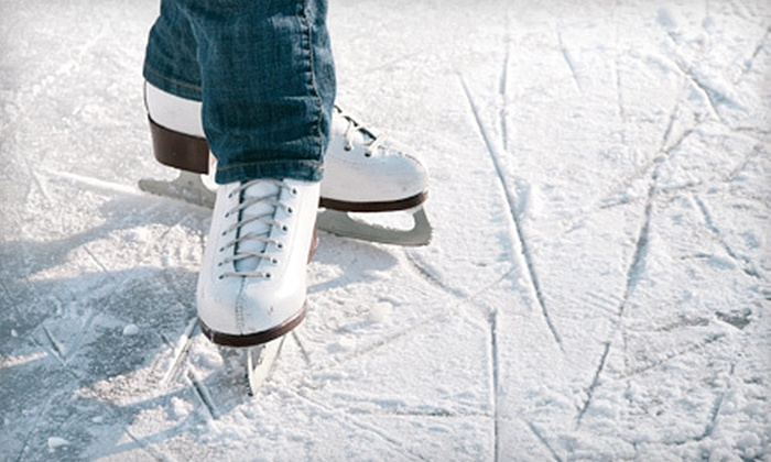 Newington Arena - Newington: Ice-Skating with Skate Rental for Two or Four or One or Four Ice-Skating Lessons at Newington Arena (Up to 54% Off)