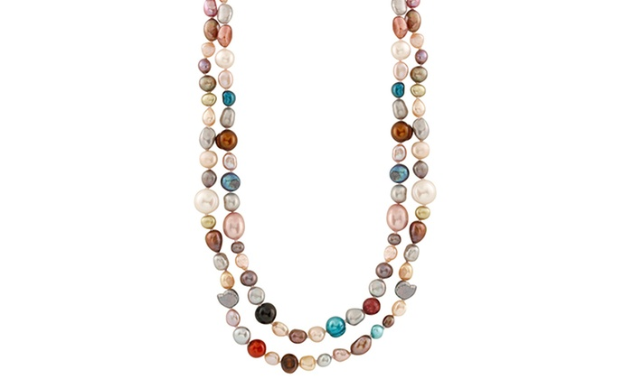 16f40c1bd4db6 Splendid Pearls Multicolored Freshwater Pearl Necklace