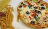 PizzaSRQ - Crestline: Pizzeria Cuisine at PizzaSRQ (Up to 45% Off). Two Options Available.