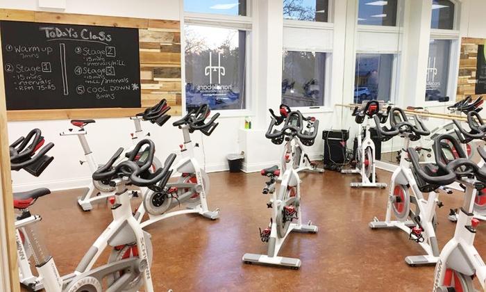 Handlebars Cycling Gym and Health Bar - Handlebars Cycling Gym and Health Bar: One Month of Unlimited Classes, or 10 or 1 Class at Handlebars Cycling Gym and Health Bar (Up to 56% Off)