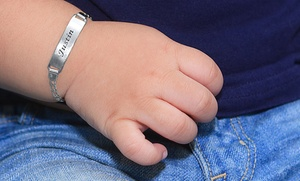 Engraved Baby Bracelet In Gold Or Silver Tone From Monogramhub.com (up To 73% Off)