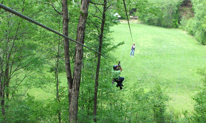 Carolina Ziplines Canopy Tour - Near Hanging Rock State Park: $50 for a Two-Hour, Themed Zipline Tour at Carolina Ziplines Canopy Tour (Up to $100 Value)