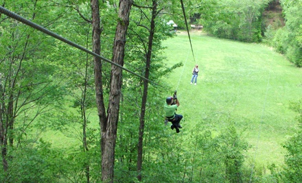 $50 for a Two-Hour, Themed Zipline Tour at Carolina Ziplines Canopy Tour (Up to $100 Value)