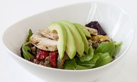 Casual Healthy Food for Dine-In or Takeout at HealthFare Restaurant (Up to 40% Off). Three Options Available.