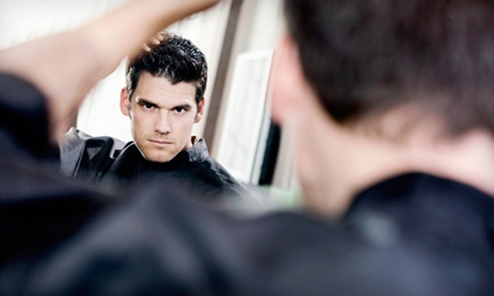 18|8 Fine Men's Salons - Multiple Locations: One or Two Men's Executive Haircuts with Optional Add-On Services at 18|8 Fine Men's Salons (Up to 55% Off)