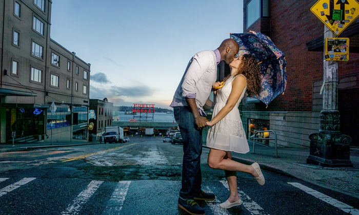April's Photography - Seattle: $27 for a 60-Minute On-Location Engagement Photo-Shoot Package from April's Photography ($205 value)