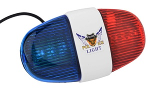 Police Car Bike Light with Six LED Lights and Four Sounds