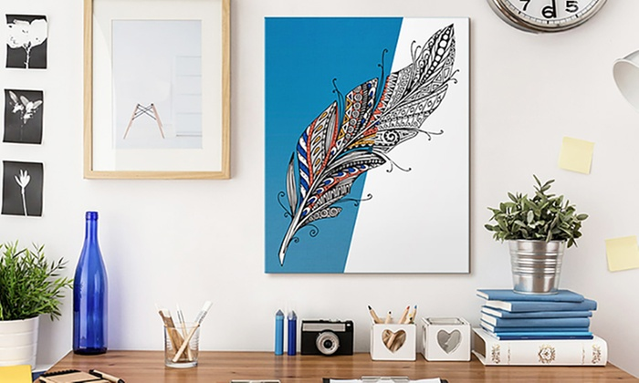 Up to 83% Off Premium Coloring Canvases | Groupon