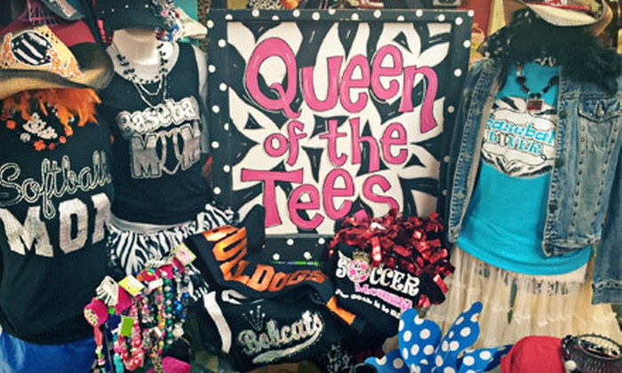 Queen of the Tees - Newcastle: 1, 12, or 50 Custom Sparkly T-Shirts from Queen of the Tees (Up to 62% Off)