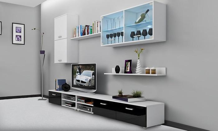 Mobili da soggiorno a parete groupon goods for Groupon mobili soggiorno