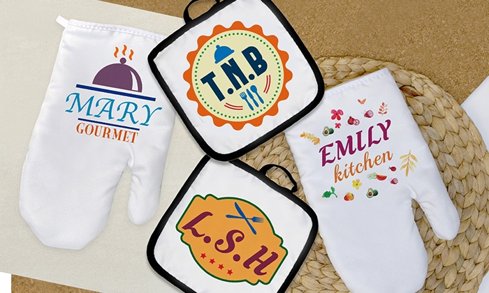 Monogram Online: Personalized Hot Pad or Oven Mitt from Monogram Online (Up to 75% Off)