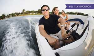 Just Go Rental, LLC: Two-, Four-, or Eight-Hour Boat Rental for Up to Five People from Just Go Rental, LLC (Up to 51% Off)